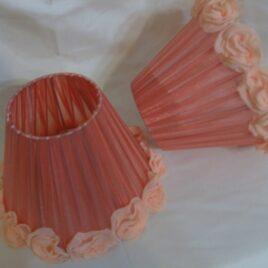 Pantalla de organza con flores 10×20