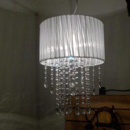 Colgante de Organza con Cairel 35 cm 2 Luces