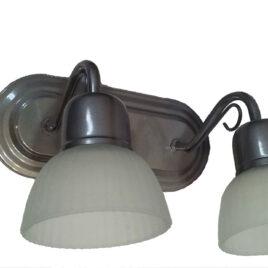 Aplique de 2 luces oval Plata